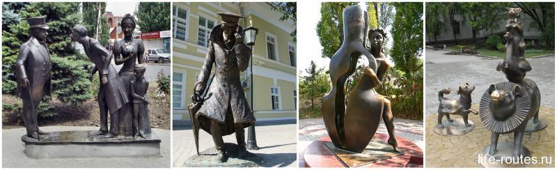 Памятники чеховским героям