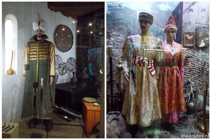 Исторические костюмы жителей Азака и соседних казачьих городков