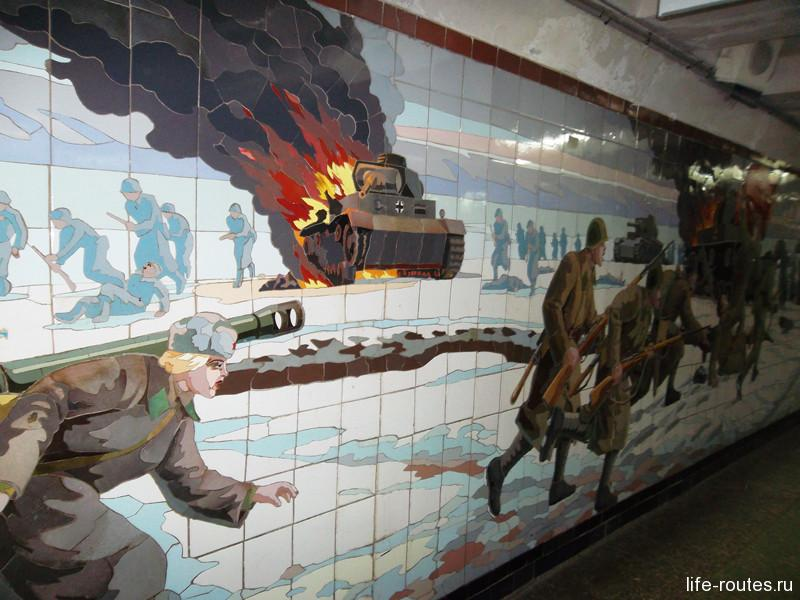 Картины военного Ростова в подземном переходе