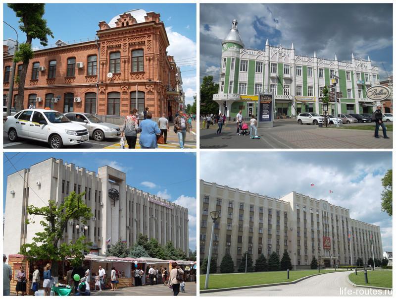 Особняки XIX века мирно соседствуют со зданиями в стиле советского конструктивизма