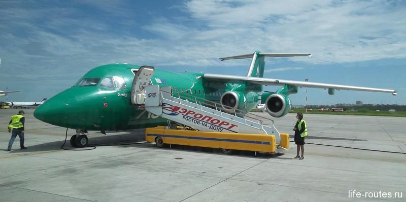 Чартерный самолетик, на котором летели мы