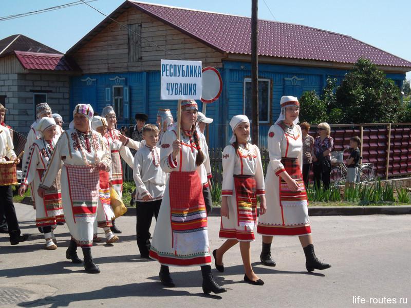 Фольклорный коллектив из далекой Чувашии