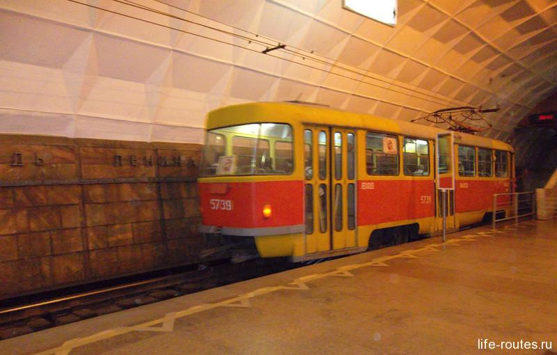 Удивительное явление Волгограда - метротрам - обычный трамвай, курсирующий по ветке подземного метро