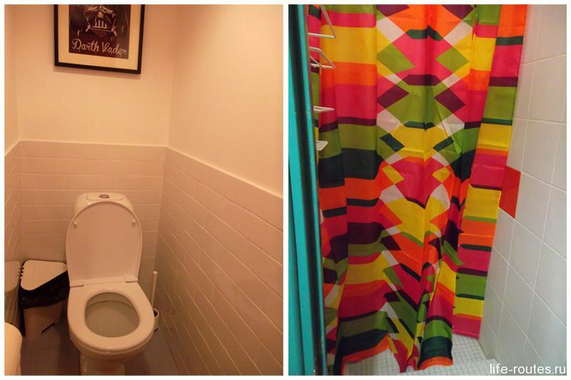 В туалете на стене висит листок и ручка. Предлагается обычную букву Т превратить в то, что пришло на ум. Оригинально и есть чем заняться :)