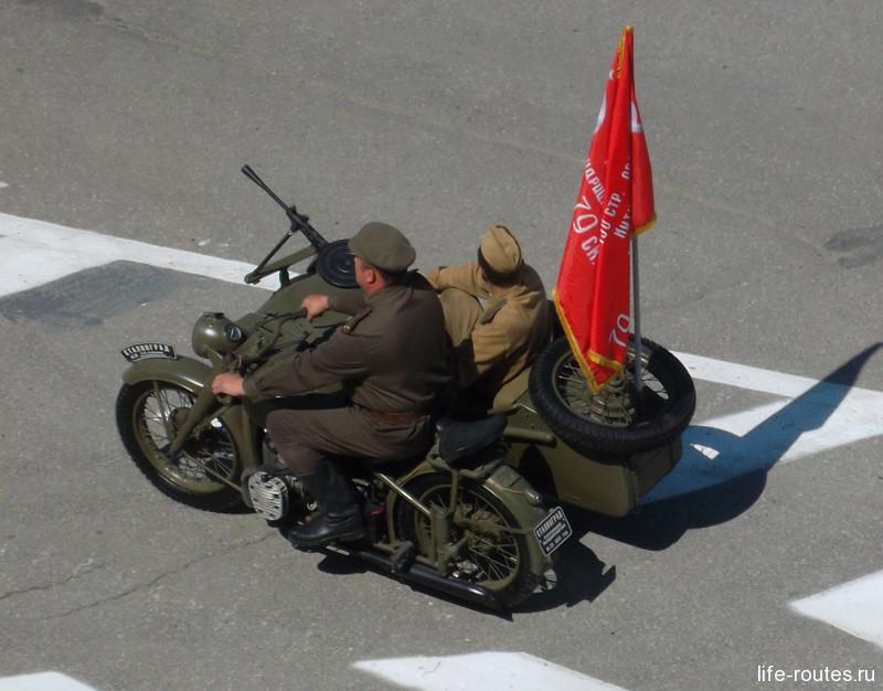 Советский тяжелый мотоцикл М-72