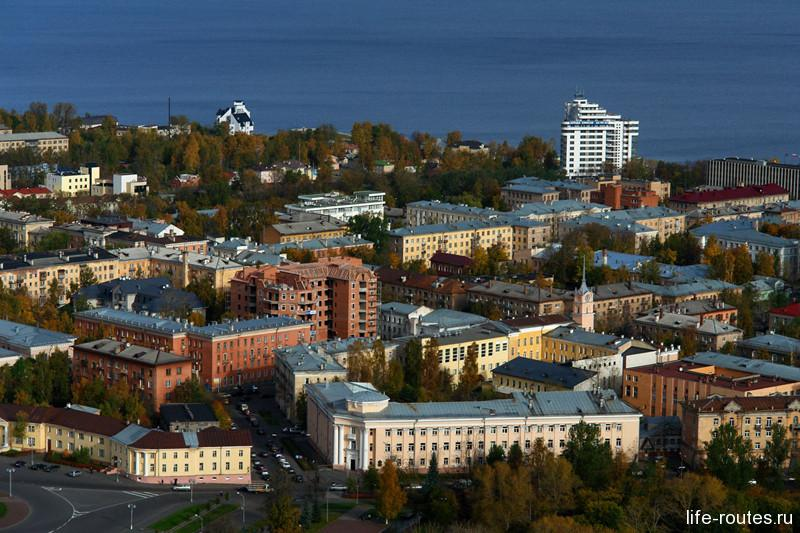 Город Петрозаводск с высоты птичьего полета