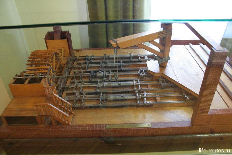 Макет пушечно-сверлильного цеха Александровского завода