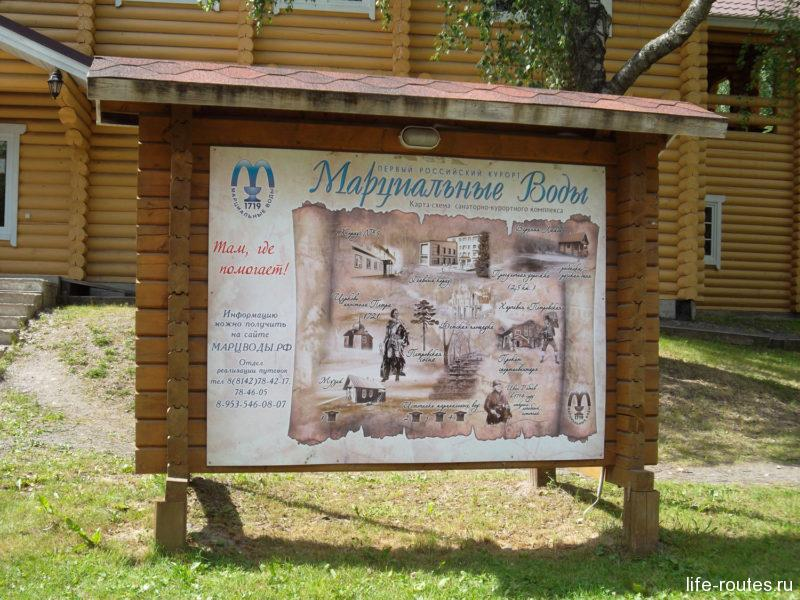 """Карта первого российского курорта """"Марциальные воды"""" (щелкни, чтобы увеличить)"""