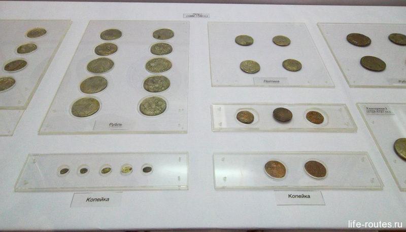Коллекция монет в Азовском музее
