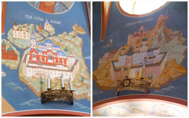 Росписи церкви еще раз напоминают, что остров Валаам – это северный Афон