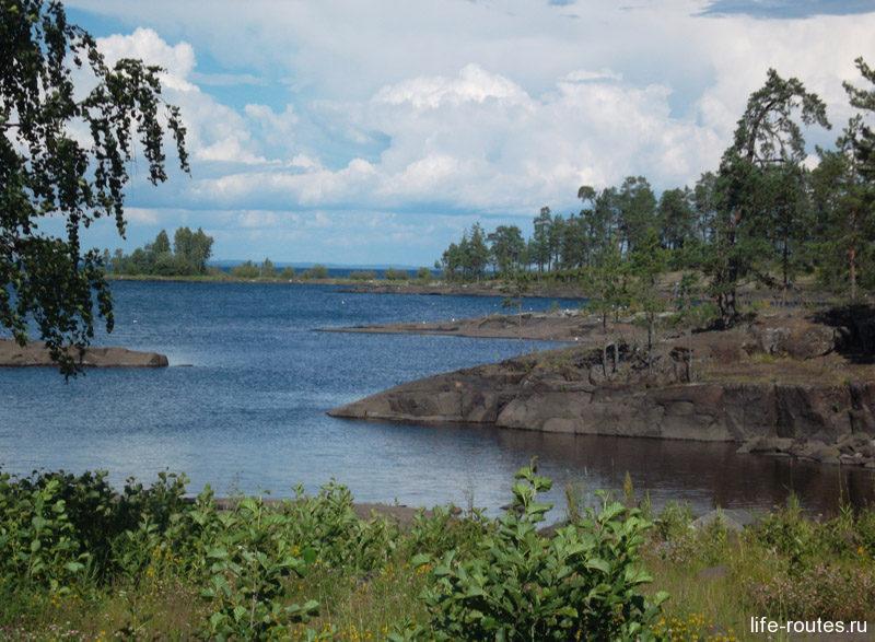 Живописные берега острова Валаама