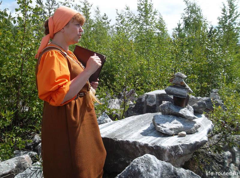 Маргарита рассказала, что к настоящему времени из мраморного карьера добыто лишь порядка 20% мрамора