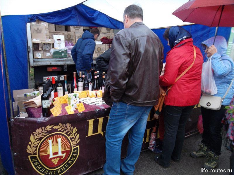 Гвоздь программы - палатки донских вин