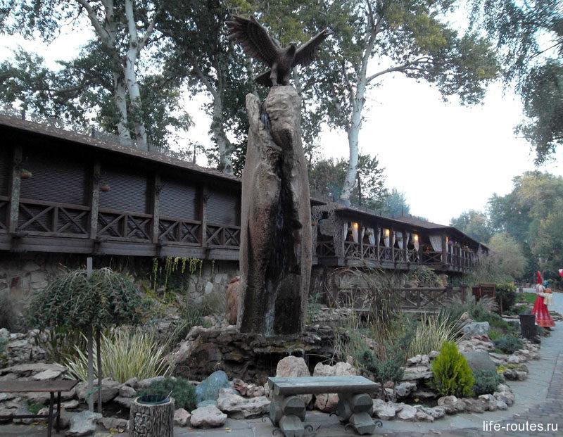 А вот орел на камень сел и водопад получился
