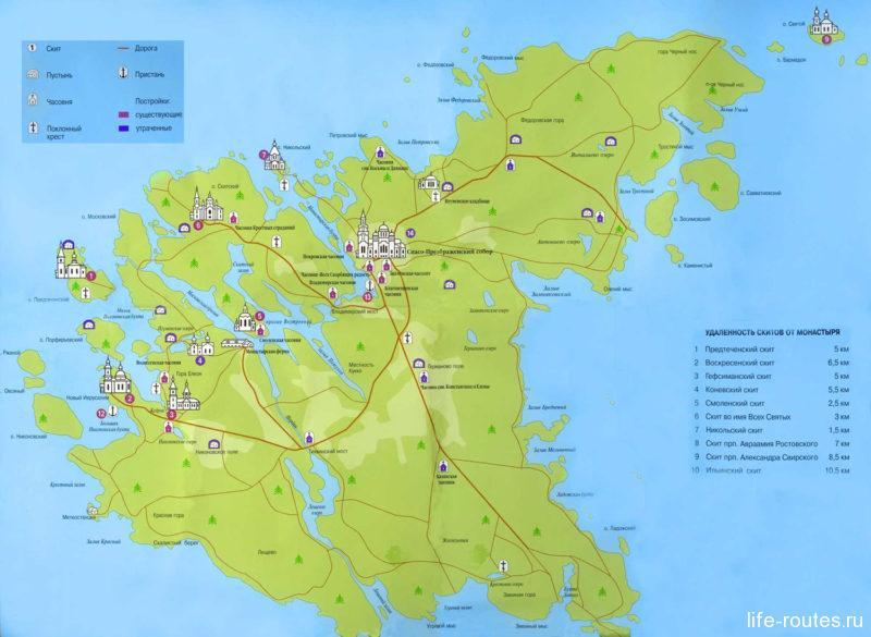 Подробная карта острова (щелкни, чтобы увеличить)