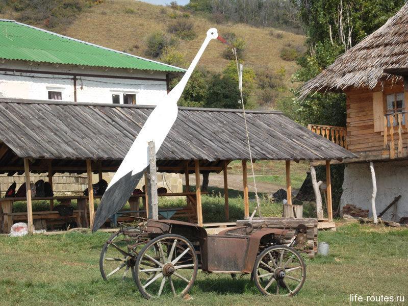 Колодец-журавль на казачьем подворье