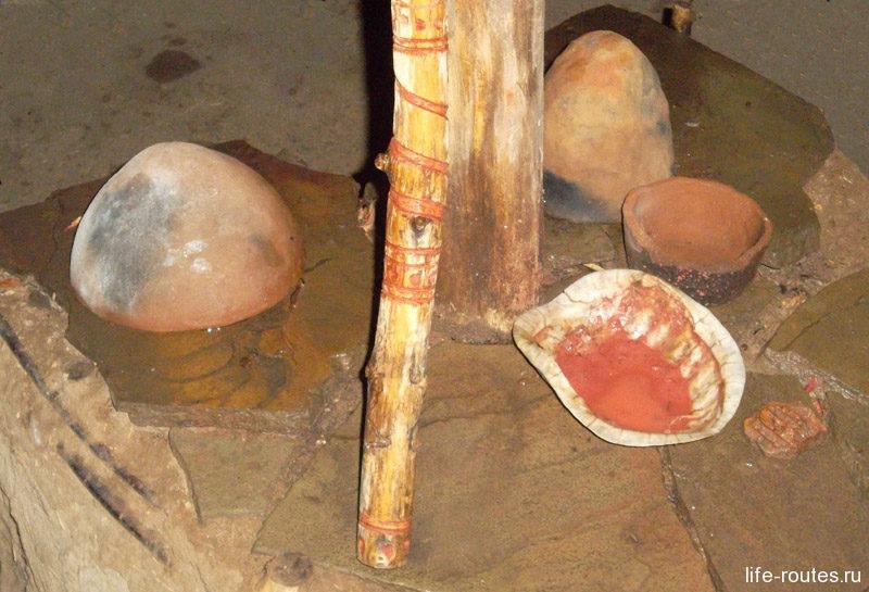 Для создания антуража шаманы активно использовали охру