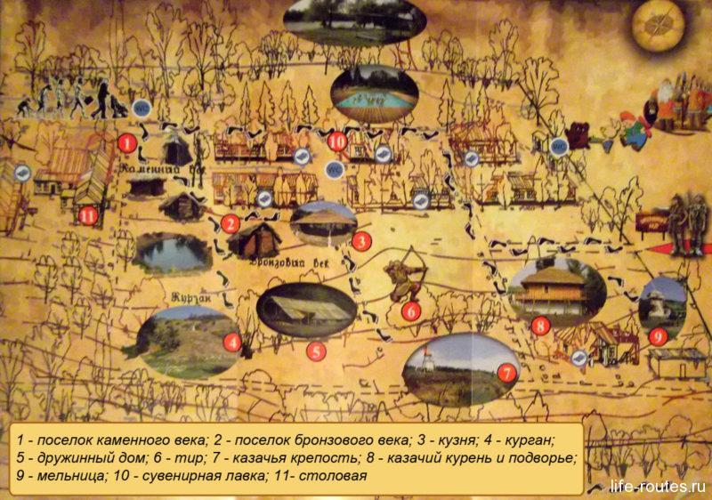 """Карта парка """"Затерянный мир"""" (щелкни, чтобы увеличить)"""
