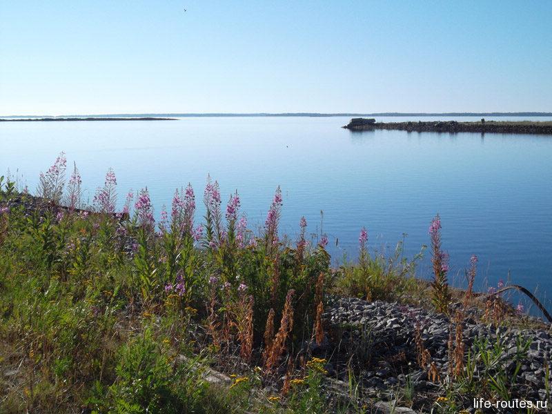 Утром Белое море встречало нас тишиной и ярким солнцем