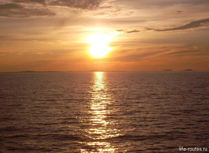 Невероятный закат на Белом море стал конечной точкой большого карельского путешествия