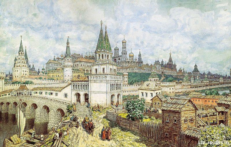 Кремль в конце XVII в. (А.М. Васнецов)