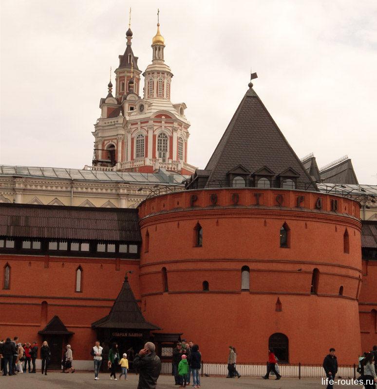 Восстановленные фрагменты Китайгородской стены