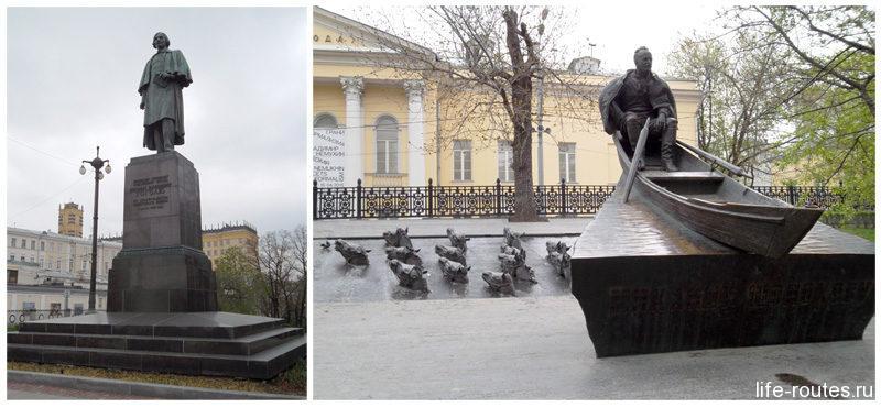 На Гоголевском бульваре можно встретить не только памятник Гоголю, но и Шолохову