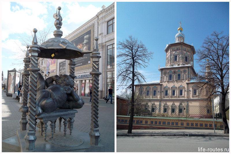 Памятник Казанскому коту и Петропавловский собор находятся совсем рядом