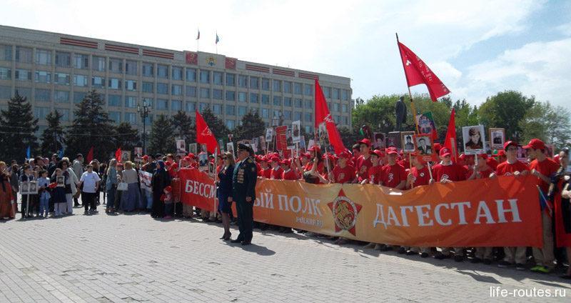 """На площади Ленина проходит много массовых мероприятий. Так 9 мая здесь прошел Парад, отсюда началось движение """"Бессмертного полка"""""""