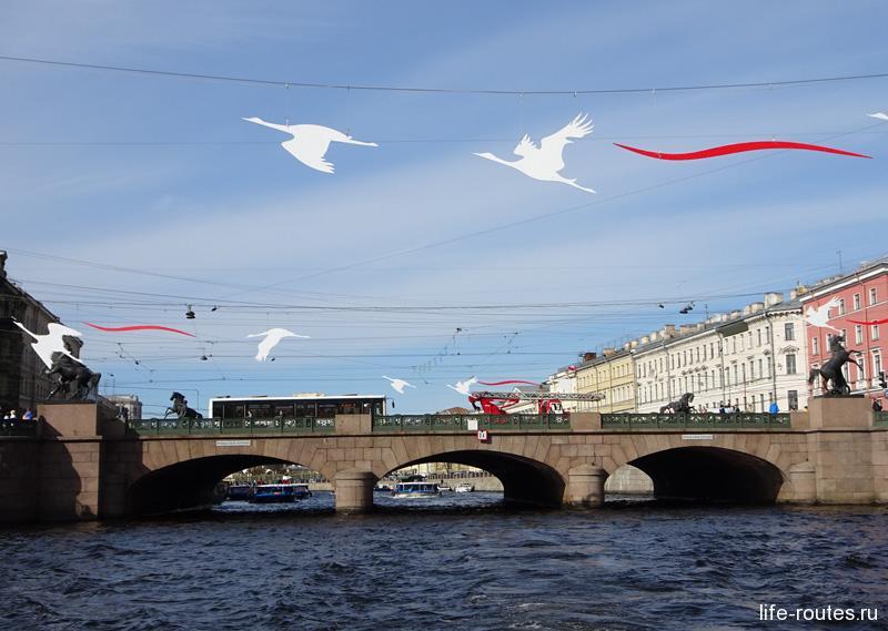 Пешеходный маршрут по туристическому центру Санкт-Петербурга